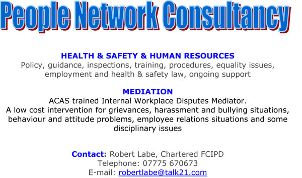 people network consultancy, health and safety, human resources